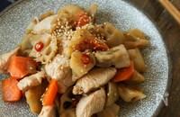 【食材3つ】鶏むね肉と根菜のきんぴら