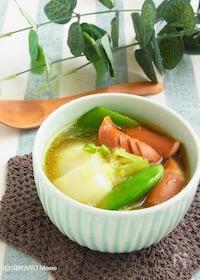『ソーセージとかぶのカレースープ』