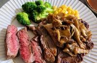 【まいたけ下味冷凍】牛肉ステーキ肉が柔らかくなる!