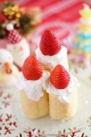 キャンドル風ケーキ