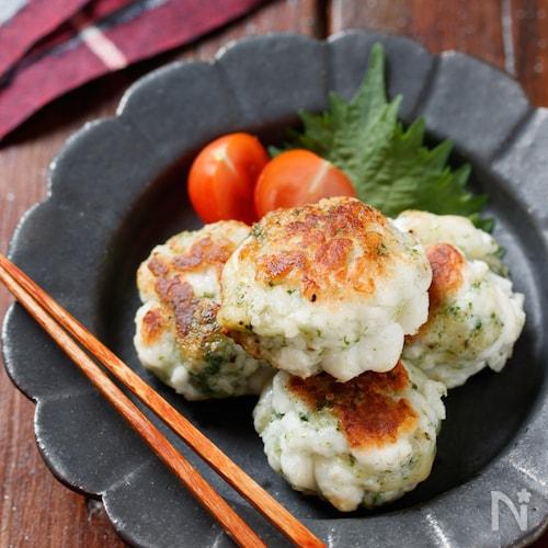 はんぺんののり塩チーズ丸め焼き【#お弁当#作り置き#ポリ袋】