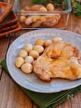*鶏肉とうずらの卵の甘酢煮*