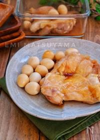 『*鶏肉とうずらの卵の甘酢煮*』