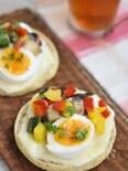 彩り夏野菜マリネのチーズトースト