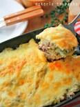 レンジ&トースターで*白菜とミンチのラザニア風チーズ焼き