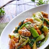 【らくレピ】柔らかジューシー!青梗菜と鶏肉のオイスター煮