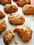 バナナココナッツ胡桃のドロップクッキー