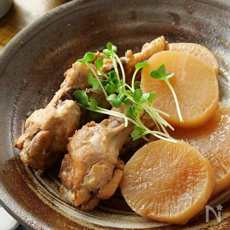 の 鶏 と 煮 大根 さっぱり