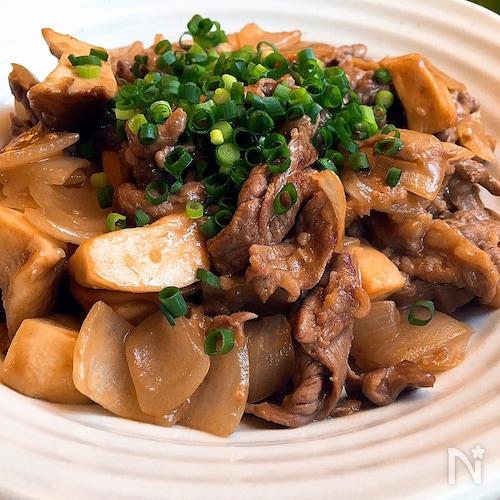 牛肉とエリンギの中華炒め