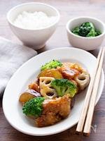 【たれはレンジで簡単】ごはんが進む味!鶏と根菜の甘酢あんかけ