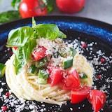 【ワンボウルであえるだけ】トマトと帆立の冷製スパゲッティ