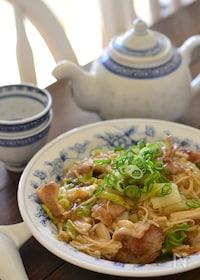 『豚バラ白菜のあんかけベジ丼』