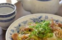 豚バラ白菜のあんかけベジ丼