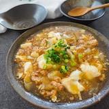 簡単!くずし豆腐と白菜とひき肉の和風とろみあん