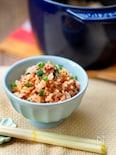 【STAUB】そぼろキムチの炊き込みご飯