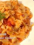蟹トマトクリームソースのファルファッレ