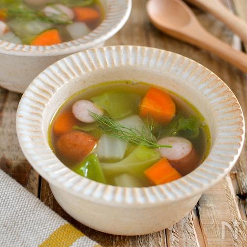 フェンネルのコンソメスープ。簡単で野菜たっぷりの洋風スープ♪