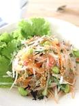 大根とひじきの梅玉ねぎドレッシングサラダ
