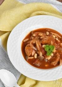 『大豆と鶏肉のトマト煮込み【冷凍・作り置き】』