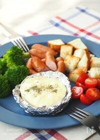 『キャンプ飯!カマンベールチーズフォンデュ』