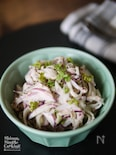 不思議な形の野菜【コールラビとツナのハニーマスタードサラダ】