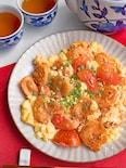 【簡単まろやか】えびとトマトの卵炒め