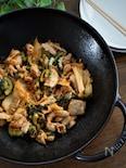 ゴーヤと豚バラ肉のさっぱりキムチ炒め
