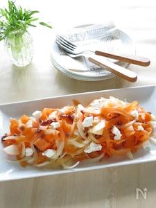 新たまねぎとにんじんの春サラダ