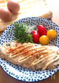 『白いオムレツ♡長芋とおくら入りのふわネバオムレツ』