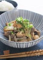 味噌とゴマ香る鶏肉とブナシメジ炒め
