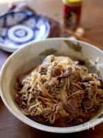 牛肉と糸こんにゃくの炒め煮
