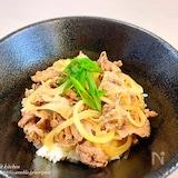 麺つゆで簡単‼︎ズボラでもめちゃウマ♡つゆだく牛丼