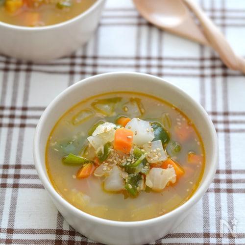 ピリ辛野菜スープ