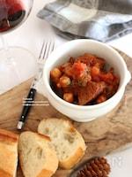 牛肉と豆の赤ワイン煮