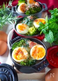 『【失敗・ダマなし】ゆで卵とブロッコリーのクリームグラタン』