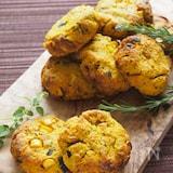 パン粉でサクッと♪トウモロコシとかぼちゃのお食事スコーン