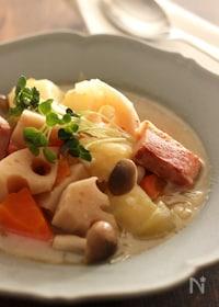 『和風ポトフ 【#味付けは昆布茶のみ#根菜たっぷり#スープ】』