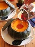 丸ごとかぼちゃのプリン