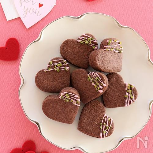 ハートのチョコサンドクッキー