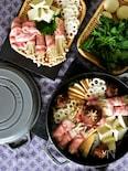 根菜と豚しゃぶ肉のスキヤキ〜STAUBレシピ〜