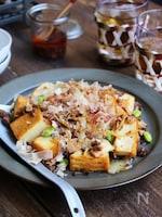 炒めチーズ肉豆腐
