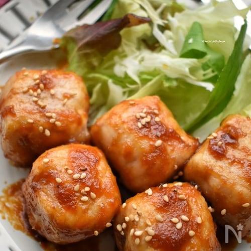 食べてびっくり(笑)激うま♡厚揚げde豚サイコロステーキ風♡