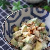 ツーンと美味しい♡アボカドと納豆とちくわのわさびマヨサラダ