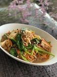 ご飯がすすむ小松菜と厚揚げのうま炒め