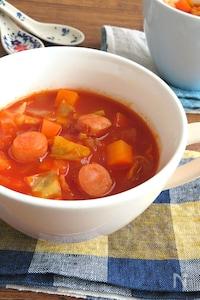 食べるスープ♪野菜ジュースで簡単☆具沢山ミネストローネ