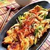 冷蔵庫にある野菜と鶏肉で♡シャキシャキ野菜のコク旨炒め