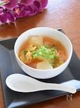 夏のピリ辛スープ☆冬瓜とキムチのスープ