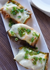 『濃厚ピリ辛で美味しい!韓国風チーズ厚揚げ焼き😋』
