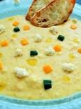 黄色ズッキーニの冷たいスープ