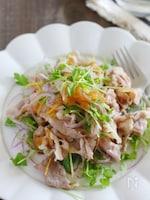 うま味たっぷりおろしドレッシング (茹で豚と豆苗のサラダ)